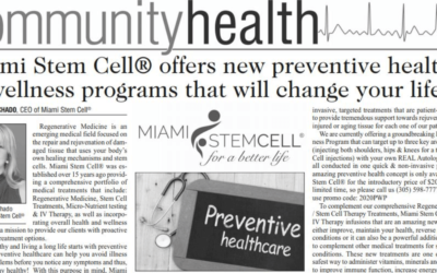 Miami Stem Cell® offers new preventive health & wellness programs that will change your life!