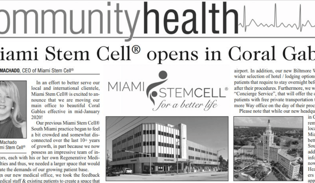 Miami Stem Cell® opens in Coral Gables!