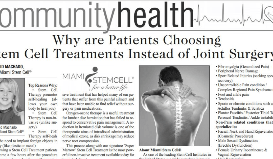 Why are Patients Choosing Stem Cell Treatments Instead of Joint Surgery?